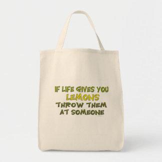 Si la vida le da los limones bolsa tela para la compra