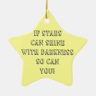 Si las estrellas pueden brillar con oscuridad ornamento de navidad