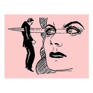 Si las miradas podrían matar (los ojos de la daga) postal