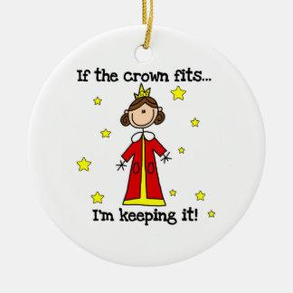 Si los ajustes de la corona adornos de navidad