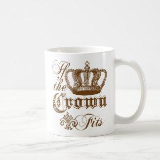 Si los ajustes de la corona tazas de café