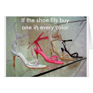 Si los ajustes del zapato compran uno en cada tarjeta de felicitación