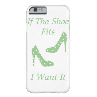 Si los ajustes del zapato funda de iPhone 6 barely there