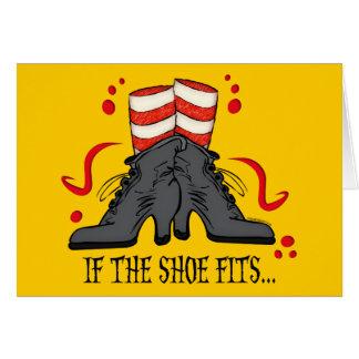 Si los ajustes del zapato tarjeta de felicitación