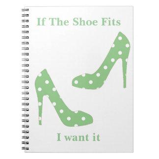 Si los ajustes del zapato yo lo quieren libros de apuntes con espiral