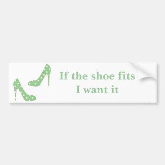Si los ajustes del zapato yo lo quieren pegatina para auto
