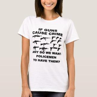 Si los armas causan crimen porqué quisiéramos que playera