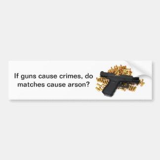 ¿Si los armas causan crímenes, los partidos causan Pegatina Para Auto