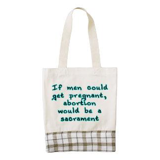 Si los hombres podrían conseguir embarazadas, el bolsa tote zazzle HEART