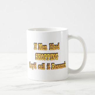 Si los hombres tuvieran gusto de hacer compras, lo taza de café