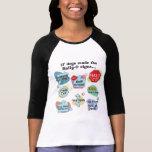 Si los perros hechos reúnen muestras camisetas