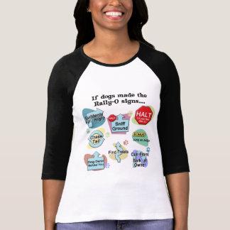 Si los perros hechos reúnen muestras tee shirts