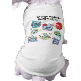 Si los perros hechos reúnen muestras camisetas mascota