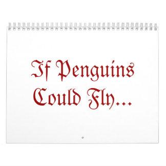 Si los pingüinos podrían volar… calendarios