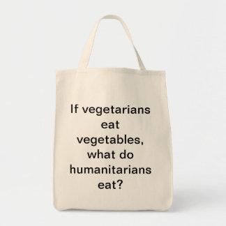 Si los vegetarianos comen verduras, qué hacen bolsa tela para la compra