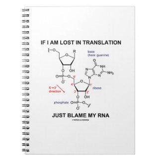 Si me pierden en culpa de la traducción apenas mi spiral notebook