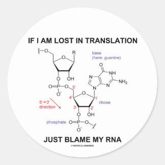 Si me pierden en culpa de la traducción apenas mi etiquetas redondas