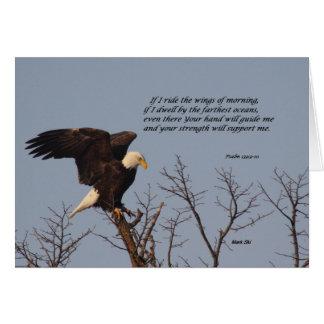 Si monto las alas de la mañana tarjeta de felicitación