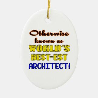 Si no conocido como arquitecto más bestest del adorno navideño ovalado de cerámica