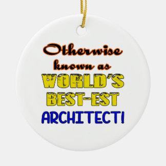 Si no conocido como arquitecto más bestest del adorno navideño redondo de cerámica