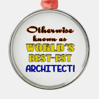 Si no conocido como arquitecto más bestest del adorno navideño redondo de metal