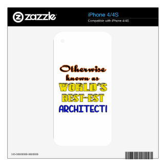 Si no conocido como arquitecto más bestest del calcomanías para el iPhone 4S