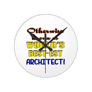 Si no conocido como arquitecto más bestest del reloj redondo mediano
