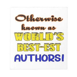 Si no conocido como autores más bestest del mundo bloc de notas
