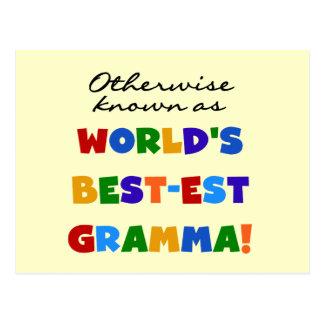 Si no conocido como camisetas del Mejor-est Gramma Postales