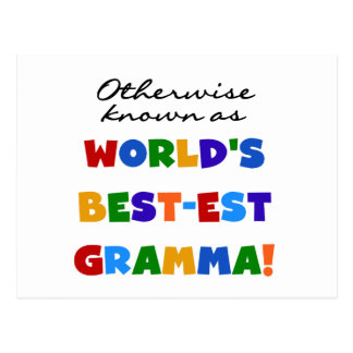 Si no conocido como camisetas del Mejor-est Gramma Tarjetas Postales