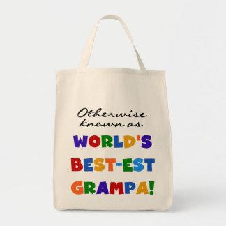 Si no conocido como camisetas del Mejor-est Grampa Bolsas Lienzo