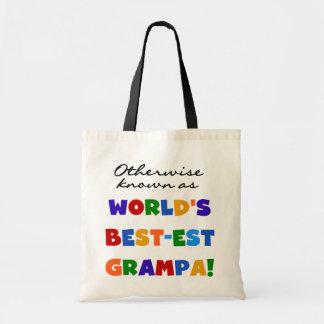 Si no conocido como camisetas del Mejor-est Grampa Bolsas De Mano