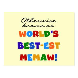Si no conocido como camisetas del Mejor-est Memaw Postales