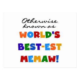 Si no conocido como camisetas del Mejor-est Memaw Tarjeta Postal