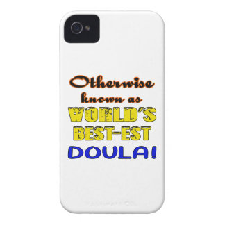 Si no conocido como Doula más bestest del mundo Carcasa Para iPhone 4 De Case-Mate