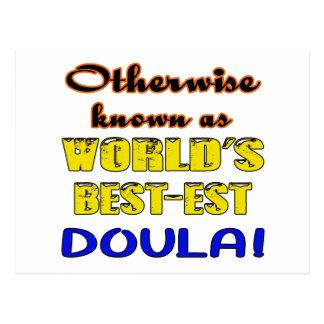 Si no conocido como Doula más bestest del mundo Tarjetas Postales