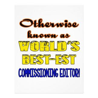 Si no conocido como e de Comisión más bestest del Membrete Personalizado