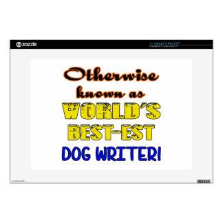 Si no conocido como escritor más bestest del perro calcomanías para portátiles