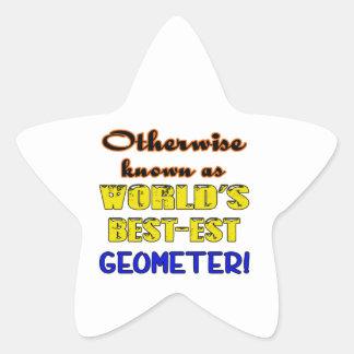 Si no conocido como geómetra más bestest del mundo pegatina en forma de estrella