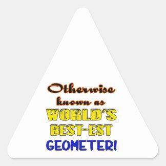 Si no conocido como geómetra más bestest del mundo pegatina triangular
