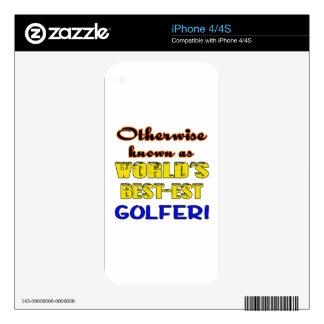 Si no conocido como golfista más bestest del mundo calcomanías para el iPhone 4S