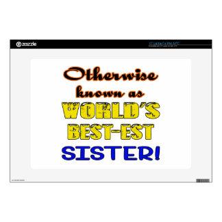 Si no conocido como hermana más bestest del mundo calcomanía para 38,1cm portátil