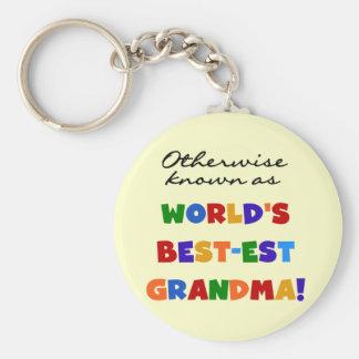 Si no conocido como regalos de la abuela Mejor-est Llavero Redondo Tipo Pin