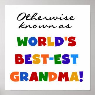 Si no conocido como regalos de la abuela Mejor-est Impresiones