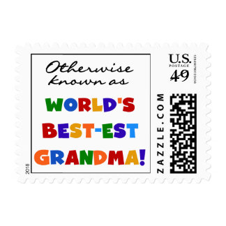 Si no conocido como regalos de la abuela Mejor-est Timbres Postales