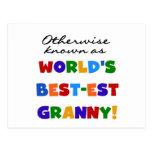 Si no conocido como regalos de la abuelita Mejor-e Tarjetas Postales