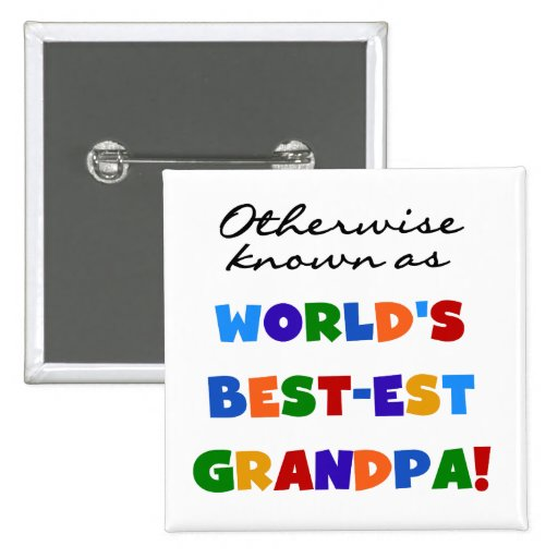Si no conocido como regalos del abuelo Mejor-est Pin Cuadrada 5 Cm