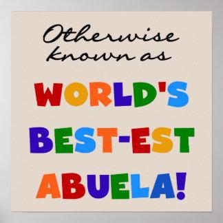 Si no conocido como regalos del Mejor-est Abuela d Poster