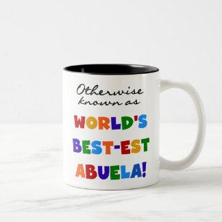 Si no conocido como regalos del Mejor-est Abuela Taza De Dos Tonos
