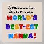 Si no conocido como regalos del Mejor-est Nanna Posters